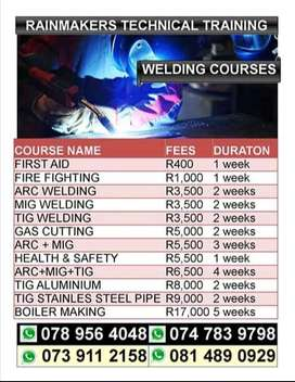 TIG,MIG,ARC Welding courses offered at an affordable price.