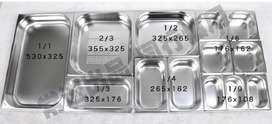 STAINLESS STEEL INSERTS WITH LIDS (thickness 0.6-0.7)