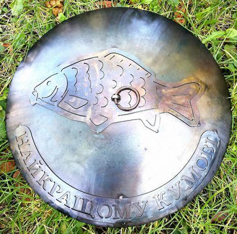 Сковорода 500мм+КРЫШКА,садж,мангал,сковорідка,из диска Каменец-Подольский - изображение 5