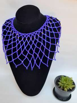 Beaded extra length necklace