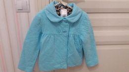 Красивое стеганое пальтишко для девочки от Джимбори, на 3-5 лет