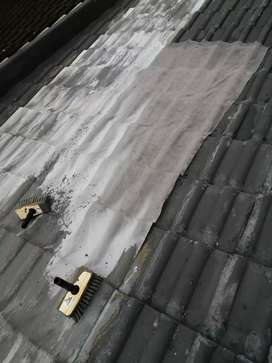 High pressure cleaning of roofs