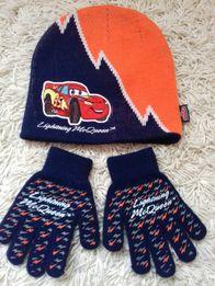 Шапка і рукавиці Disney тачки. Шапочка, перчатки 2-3 р.