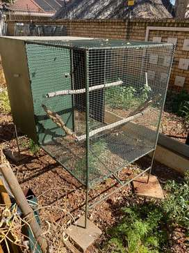 Bird cage with built in nesting area