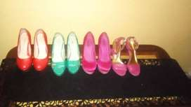 4 pairs of ladies size 5 high heel shoes all in good condition