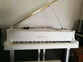 White Ronish Baby Grand Piano for sale