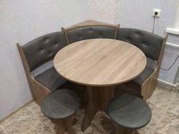 Кухонный уголок с круглым столом Боярин