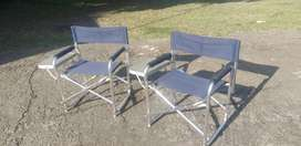 TWO STRONG LIGHTWEIGHT CAMPING CHAIRS - LIKE NEW!!