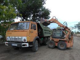 Вывоз мусора, минипогрузчик, КамАЗ, планировка участка.