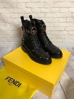 Ботинки, Натуральная Кожа, брендовая обувь fendi