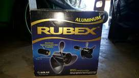 RUBEX 3 Aluminium propeller. Fits 4 different evinrude motors.
