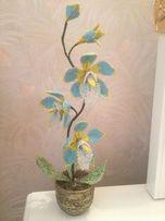 """Орхидея """"hand maid"""" ( чешский, японский бисер). Подарок"""
