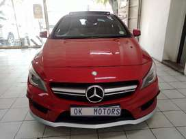 Red Mercedes AMG CLA 45  4- Matic Auto