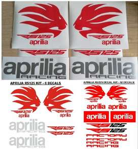 Aprilia RS 125 vinyl cut decals graphics sticker kits