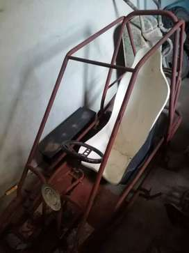 One seater pipe car project