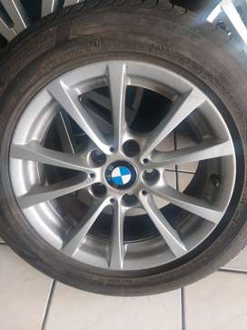BMW 16inch mag wheel set with tyres