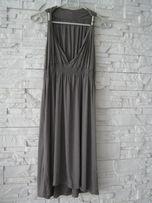 sukienka one size szara beżowa S M L nowa okazja tanio vintage boho