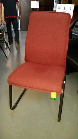 No Arms maroon fabric visitor chair