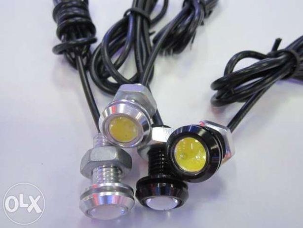 дневные ходовые габаритные огни LED лампочка светодиодная 18мм задний Кривой Рог - изображение 1