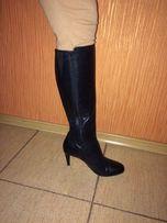 Фирменные кожаные высокие качественные осенние сапоги Clarks,размер 39
