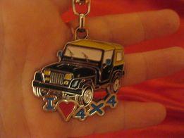 коллекционеру брелок на ключи или сумку металл машина джип I LOVE 4X4