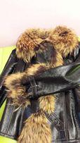 Продам куртку кожаную с меховым воротником и подкладкой
