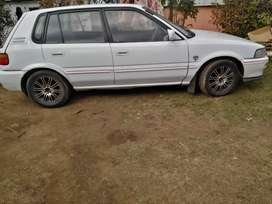 White toyota tazz, at a negotiable price of R35 000