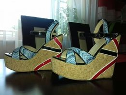 Sandały,sandałki na koturnie 37