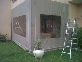 Canvas Patio roller blinds and Awnings