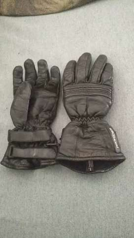 Prorider leather motorcycle gloves - large