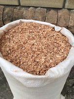 Тырса, опилки сухие в мешках - ольха, ясень влажность 8-15%