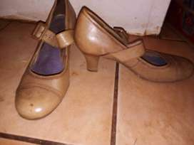 Leather Green Cross shoes