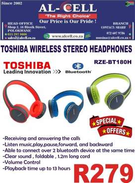TOSHIBA WIRELESS STEREO HEADPHONES RZE-BT180 H