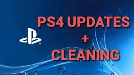 PS4 games/software updates + PS4 cleaning