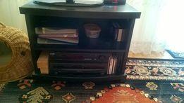Stolik pod telewizor rtv czarny słupek komoda Łódź na kółkach