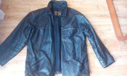 Meska czarna kurtka ze grubej skóry rozmiar XL cena 100 zl