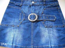 Джинсовая мини-юбка. Размер 44 (28)