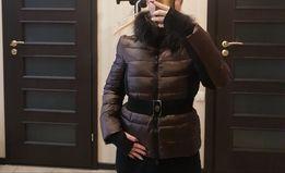 Натуральная Пуховая куртка эффектный красивый пуховик