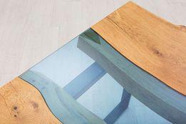 Эксклюзивный журнальный стол река (чайный, кофейный столик) стиль лофт