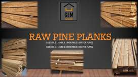 Pine Wood Planks - Raw and Planed