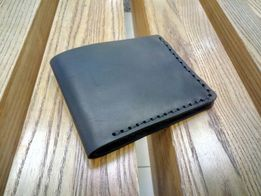 Кожаный мужской кошелек, портмоне. Ручная работа. Именная гравировка