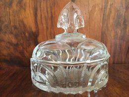 Piękna stara cukierniczka kryształ ART DECO stare szkło