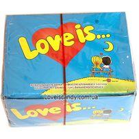Жвачка жевательная резинка Love is блок Банан-Клубника оригинал Турция