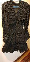 Бархатное нарядное платье на рост 160, S.