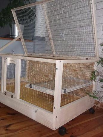 Klatka drewniana zagroda dla królika świnki morskiej. Myszków - image 2
