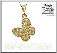 Złoty wisiorek motyl skrzydła Au złoto 585 Jubiler Tychy Promocja
