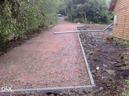 odwodnienia domu terenu drogi drenaze roboty ziemne kanalizacja kostka