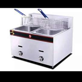 Double Gas Fryer 2 x 6lt With Baskets