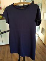 Granatowa prosta sukienka Mohito