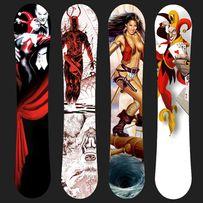 Принт, защитная пленка, наклейка, картинка на сноуборд, доску, лижы